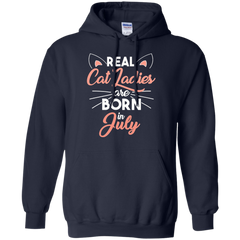 Pet Cats T-shirt Real Cat Ladies Are Born In July Shirts Hoodies Sweatshirts