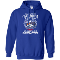 1 Denver Broncos shirts I may live in California but my heart belongs to the Broncos T-shirts Hoodies - TeeDoggie.Com