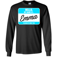 Emma Shirts Hello My name is Emma T-shirts Hoodies Sweatshirts - TeeDoggie.Com