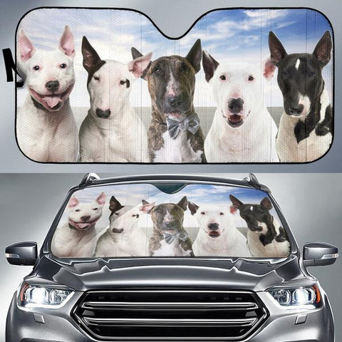 Bull Terrier Face auto sun shade