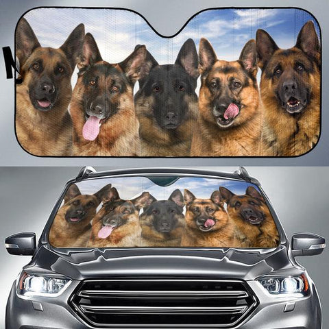 German Shepherd FACE AUTO SUN SHADE