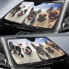 French Bulldog Face AUTO SUN SHADE