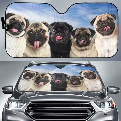 PUG FUN FACE AUTO SUN SHADE