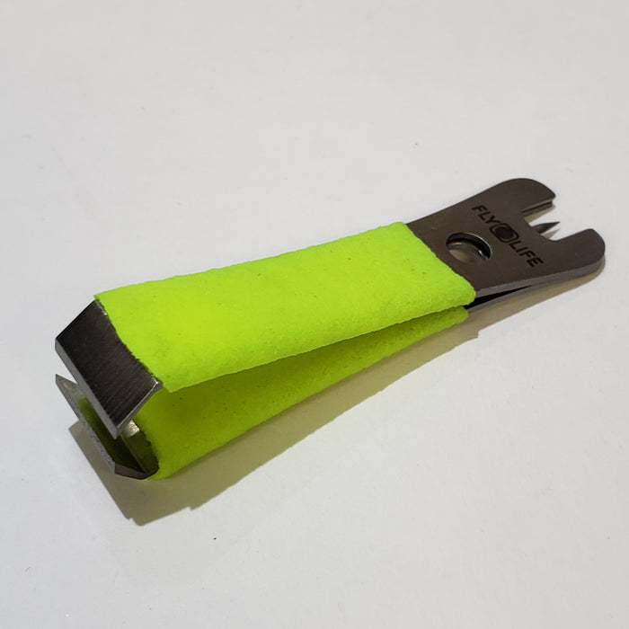 Fly Life Lime Green Nippers With Rubber Grip