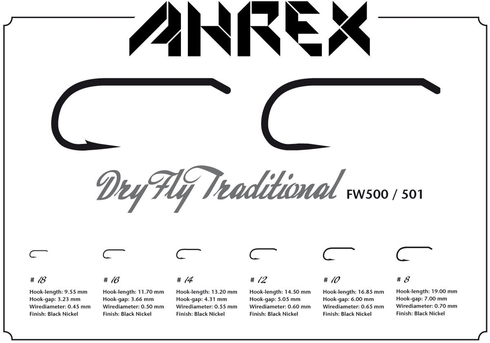 AHREX FW501 – Dry Fly Traditional Barbless