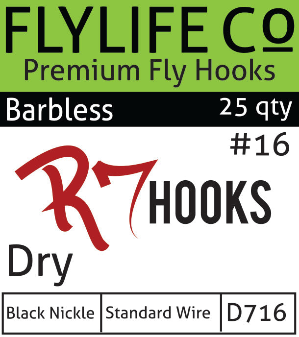 R7 Barbless Dry Hook