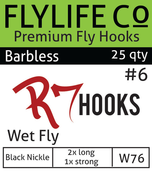 R7 Barbless Wet Fly Hook