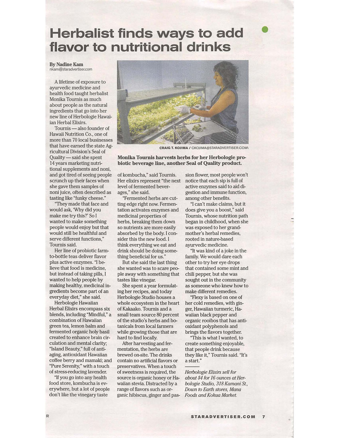 Kind words from Nadine Kam in The Honolulu Star Advertiser