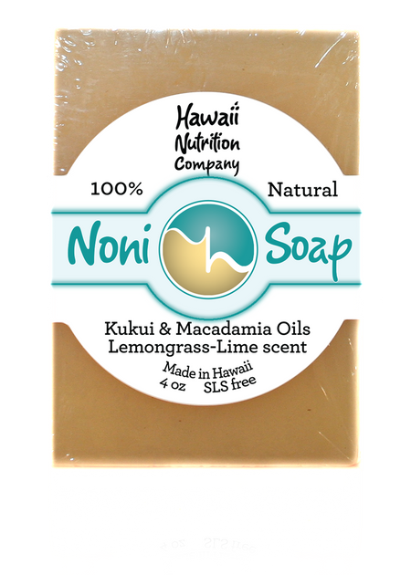 All natural Noni Soap with Lemongrass & Lemon Verbena Essential Oils - SLS Free