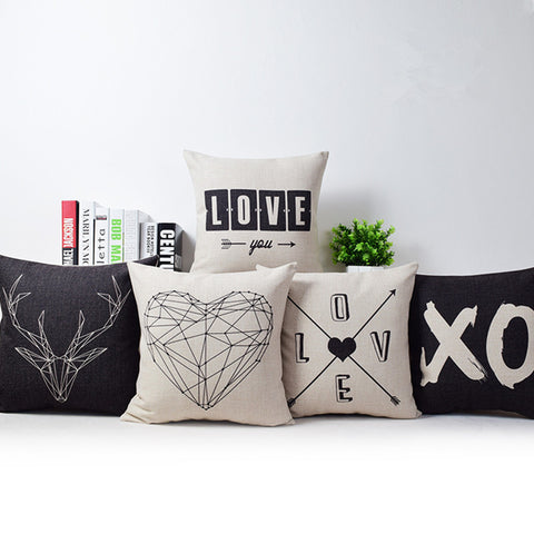 Romantic Modern Pattern Pillow