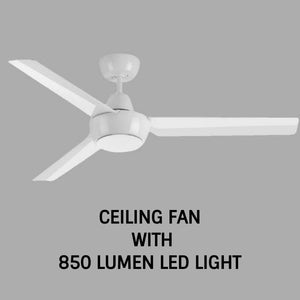 3 Blade Ceiling Fan with LED Light | ABS | 120cm