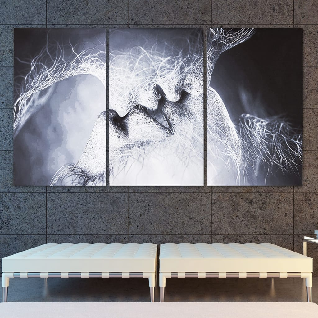 3pcs Love Kiss Abstract Canvas Print Paintings Unframed - 2