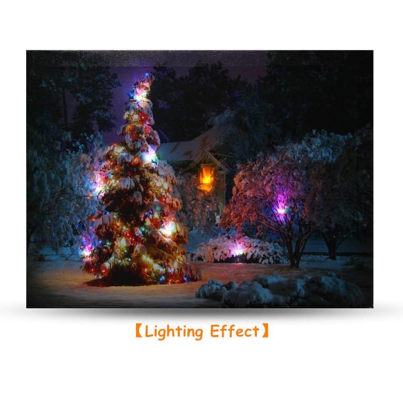 40 X 30cm Battery Operated Led Christmas Snowy House front