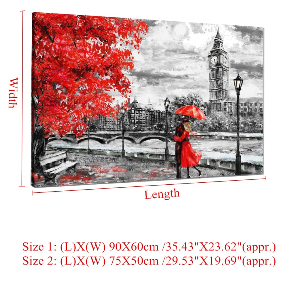 Unframed London Big Ben Lover Canvas Paintings - 2 Options