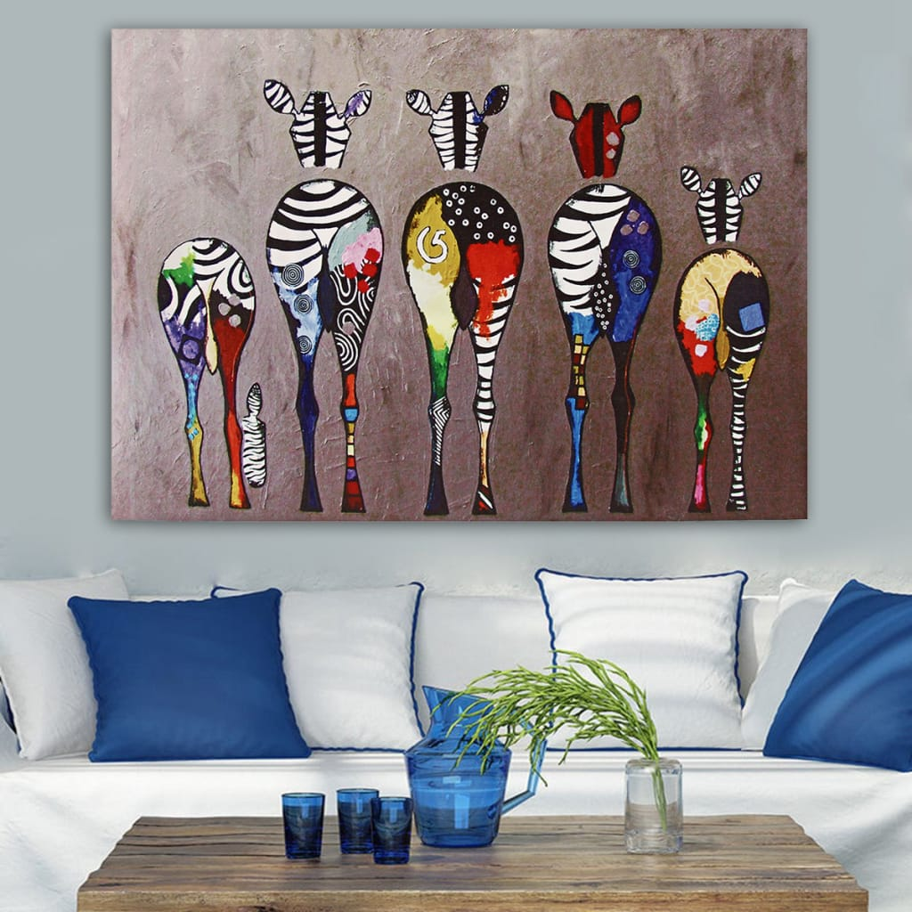 Unframed Multicolored Canvas Prints Paintings - 2 Options