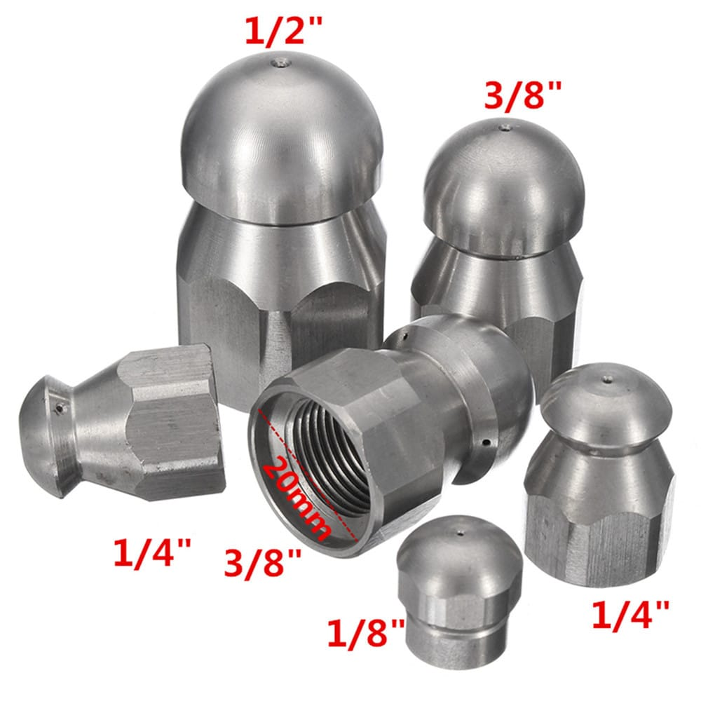 Pressure Drain Hose Nozzle Sewer Cleaning Jetter Nozzle -