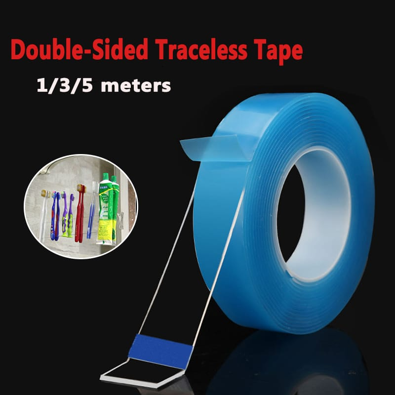 1/2/3/5m Double Sided Tape Heavy Duty Adhesive Traceless