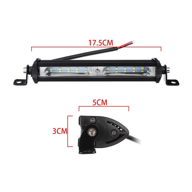 7 Inch 3030 Led Work Light Bar Flood Beam 12-32v 30w I68 for