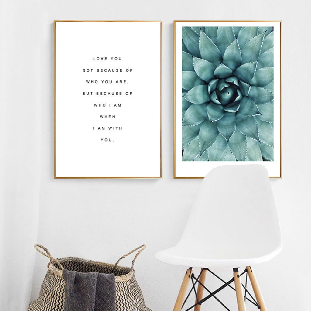 Flower Motivational Quote Canvas Poster Wall Art Prints no