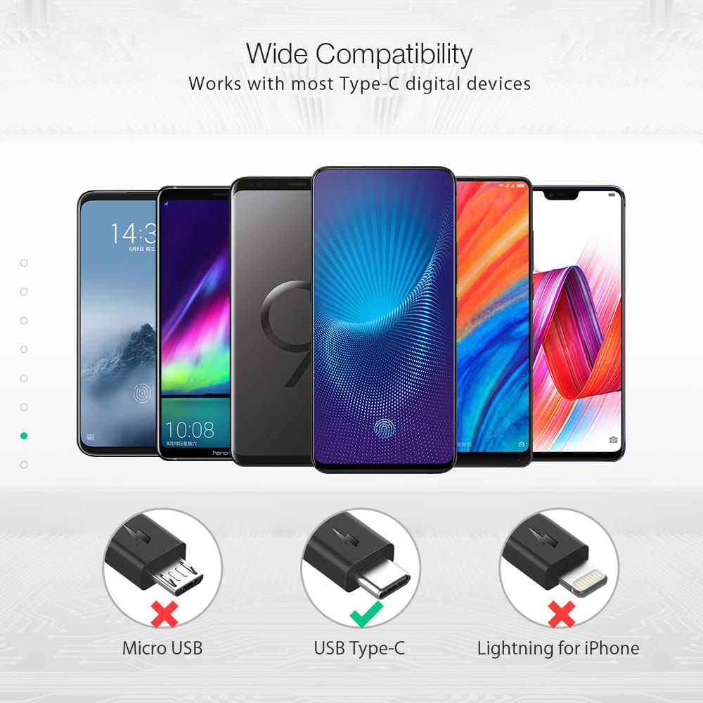 Usb Type-c Charging Data Cable 6ft/1.8m for Oneplus 6 Xiaomi