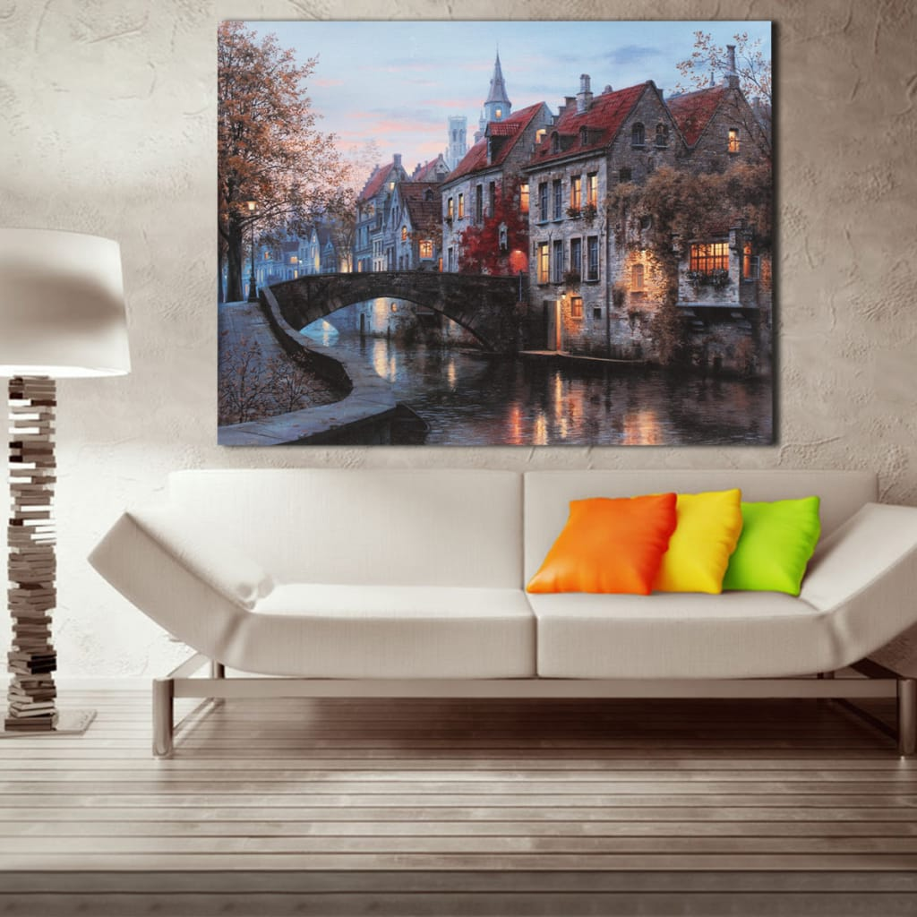40x30cm Cityscape River Print Art Picture Poster Home Wall