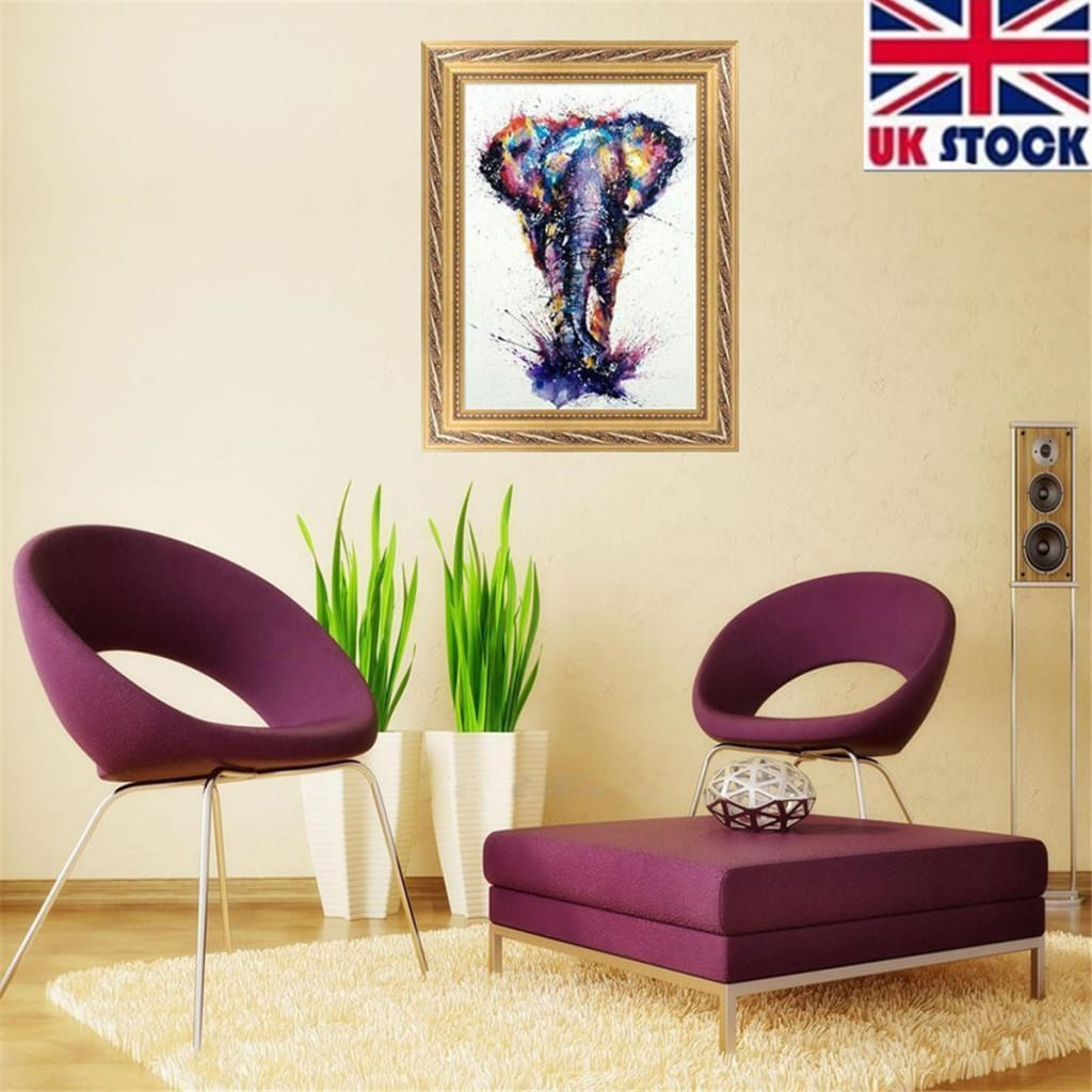 Colourful Elephant 5d Diamond Painting Embroidery