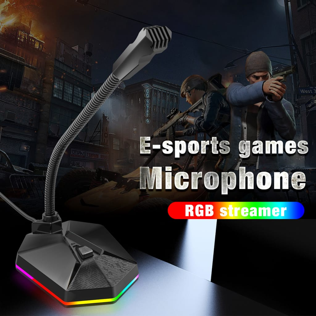 Rgb Computer Microphone Wired Microphone Gaming Microphone