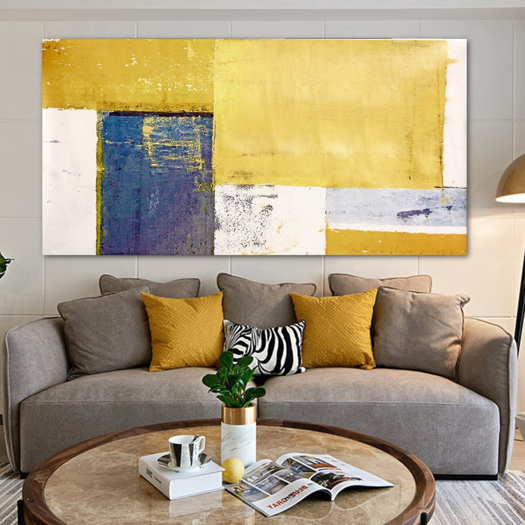 Abstract Yellow Canvas Art Print Oil Paintings Picture