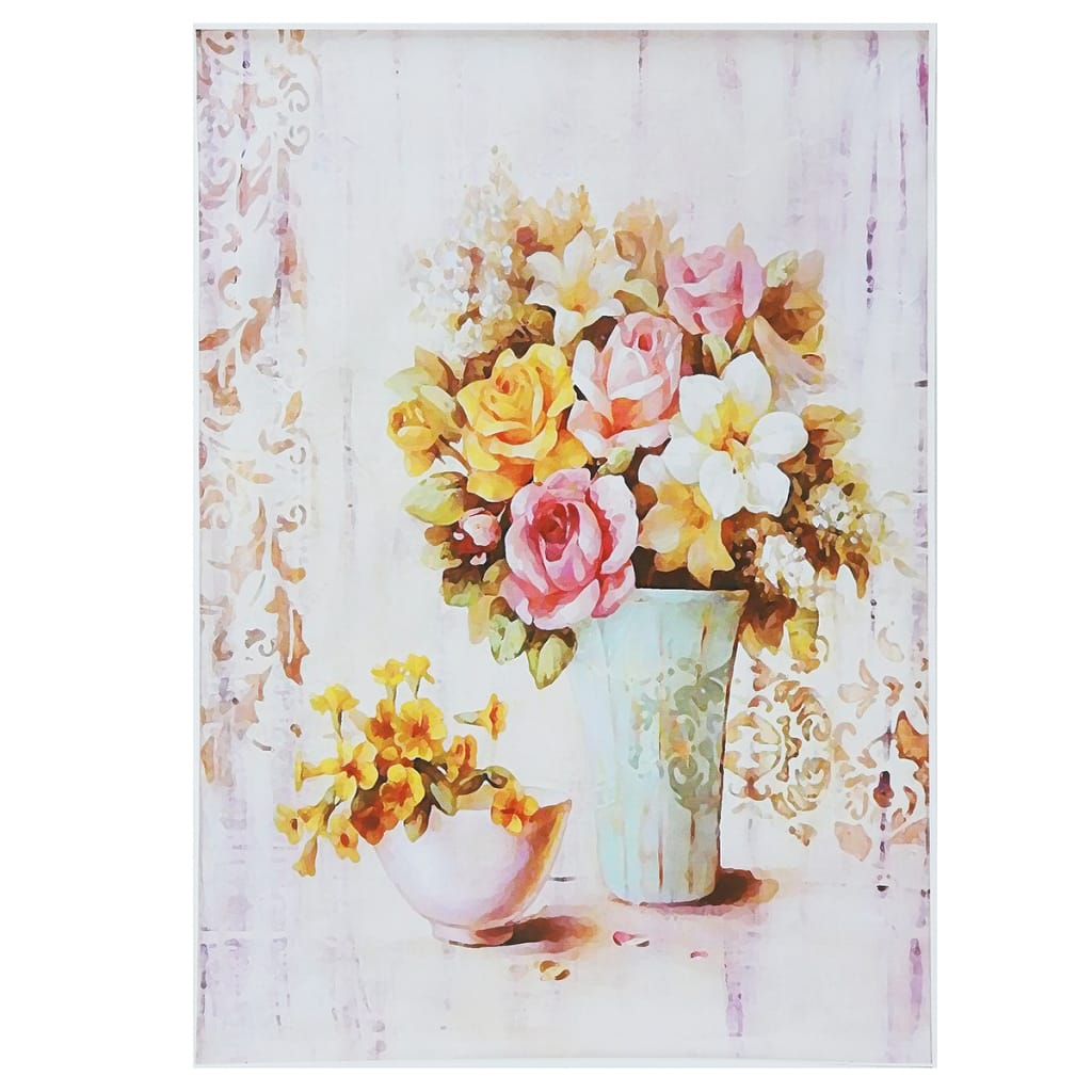Flower Vase Abstract Wall Art Painting Canvas Print Picture
