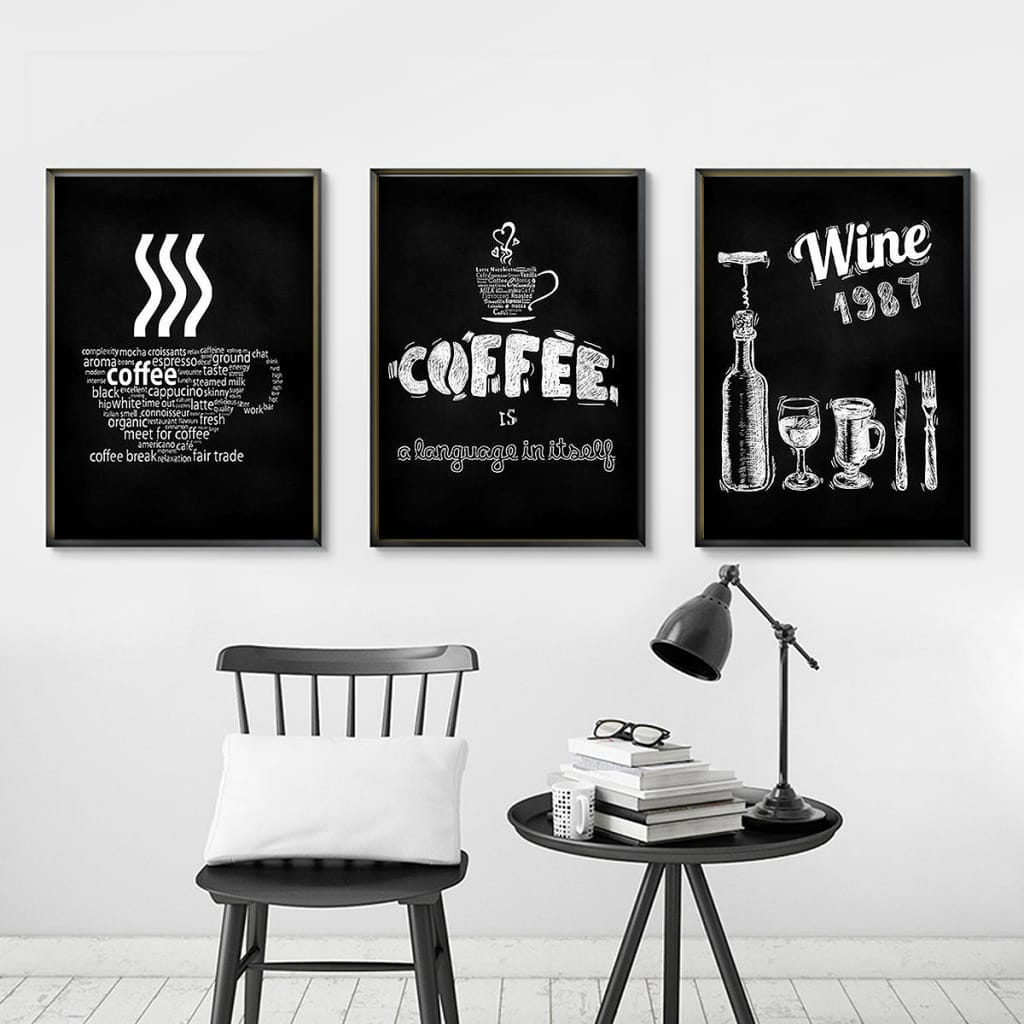 Unframed Canvas Coffee Paintings Bar Cafe Kitchen Wall