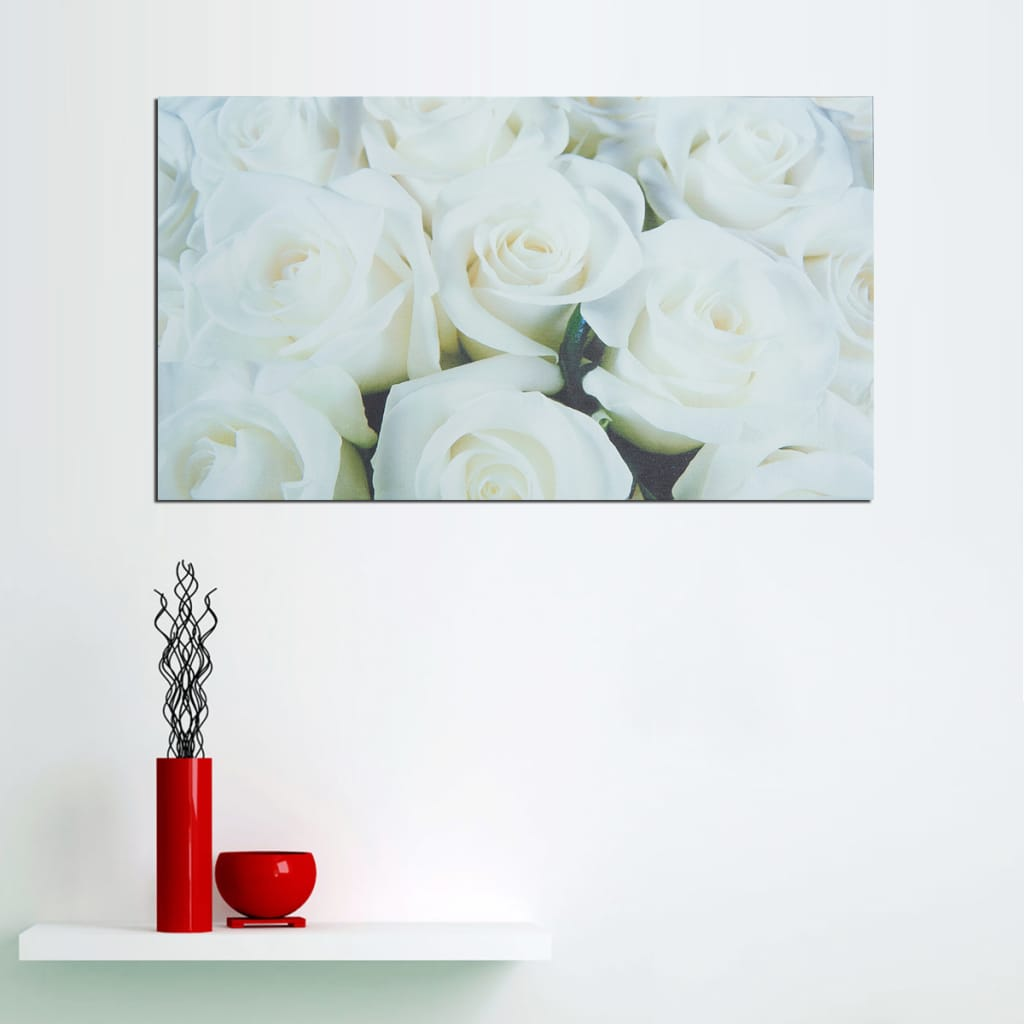 Unframed Modern Flower White Rose Canvas Picture Poster