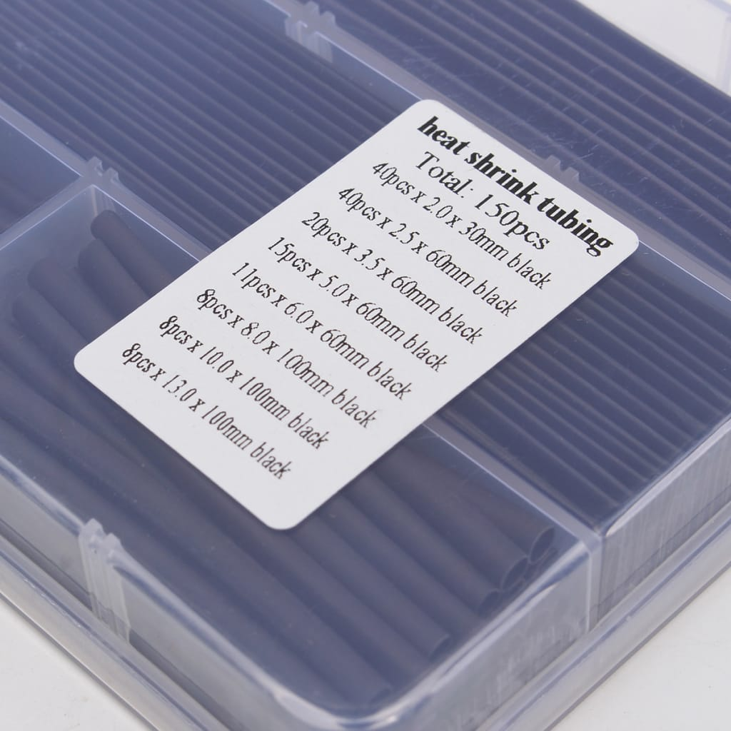150pcs Heat Shrink Wire Wrap Assortment Tubing Electrical