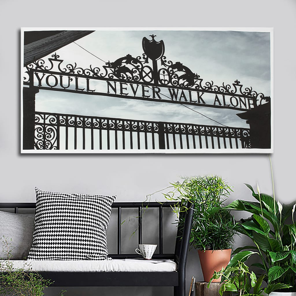 Au Print Wall Decor Black White Door Paintings Art Canvas