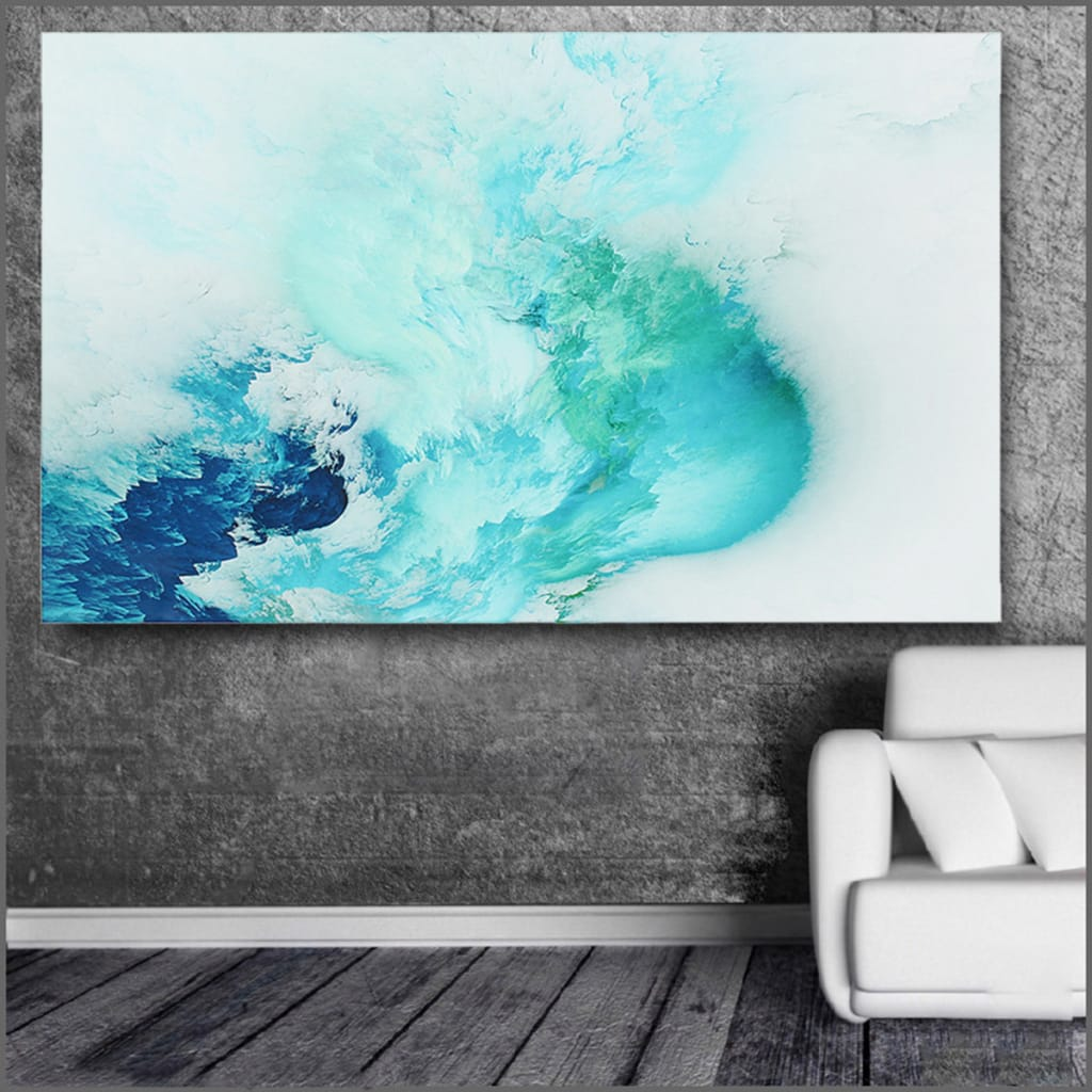 Abstract Beautiful Cloud Colorful Paintings Canvas Print