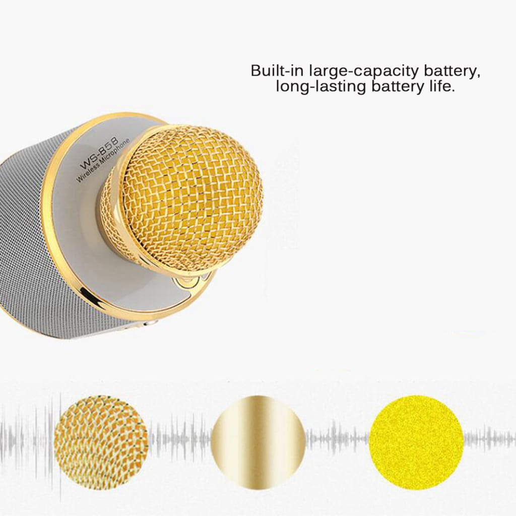 Ws858 Bluetooth 4.0 Wireless Microphone Speaker Ktv Karaoke