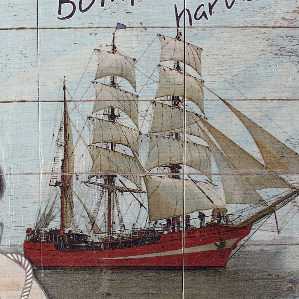Rustic Wood Sign Plaque Wall Art Picture Nautical Steamship