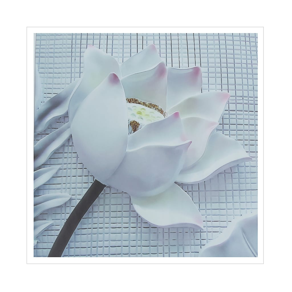 2pcs Nordic Canvas Print 3d Flower White Rose Unframed Wall
