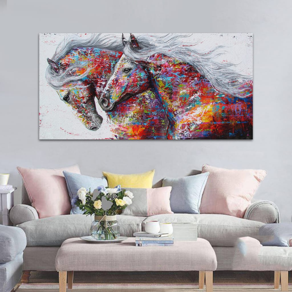 Modern Canvas Print Horse Paintings Picture Unframed