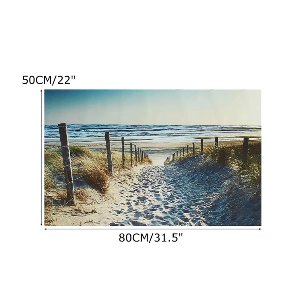 Ocean Beach Footprint Canvas Painting Unframed - 3 Options