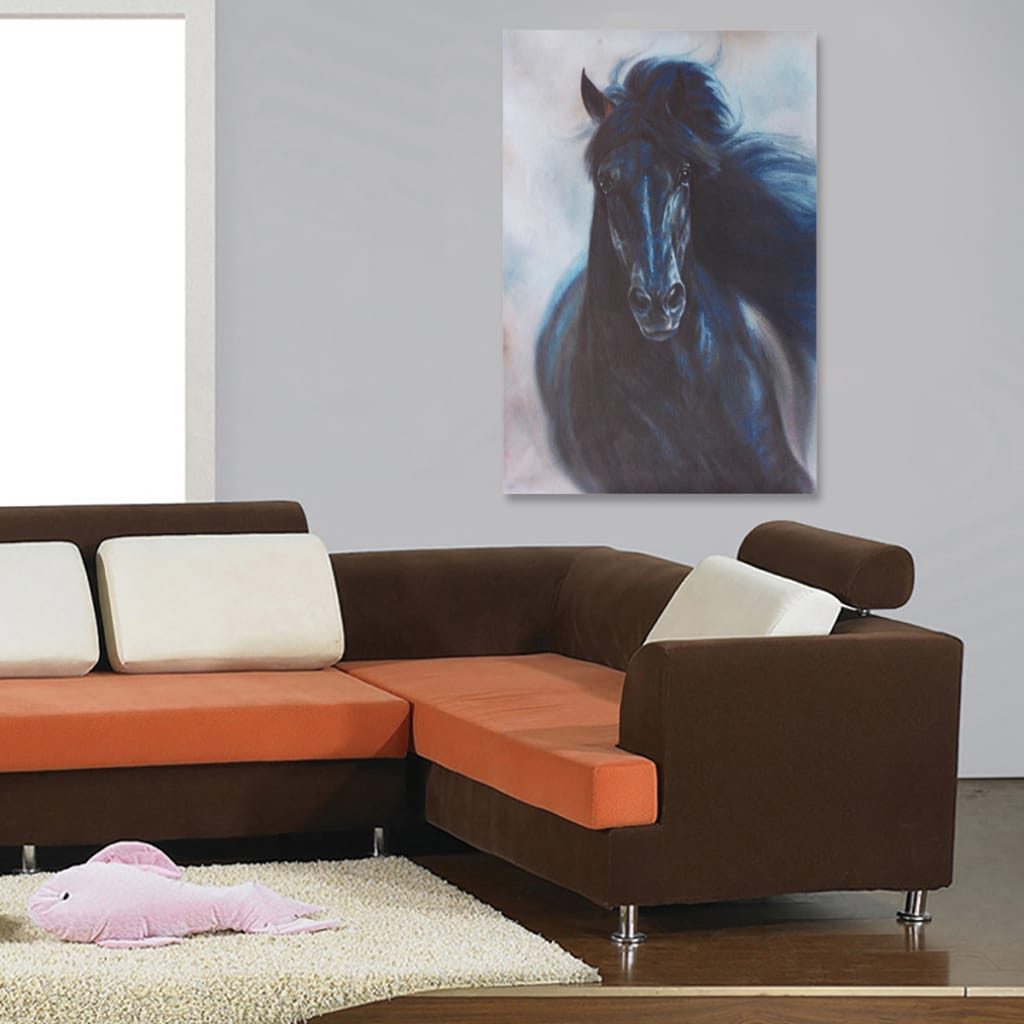 Horse Oil Color Wall Paintings Canvas Picture Unframed - 3