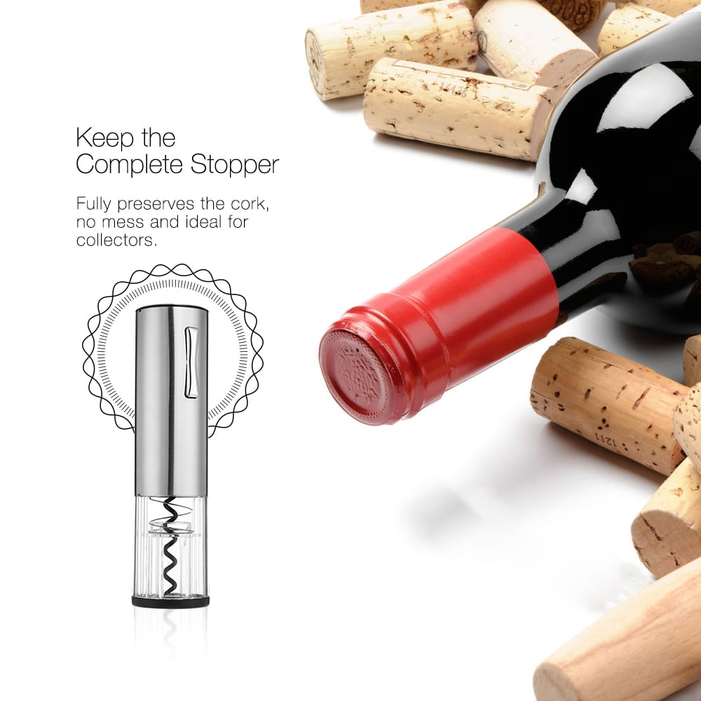Electric Usb Instant Bottle Opener Home Rechargeable Red