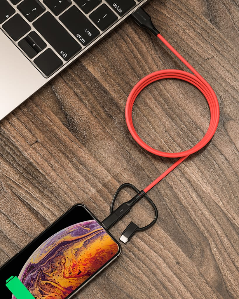 Blitzwolf® Type-c Lightning Micro Usb Data Cable with Mfi