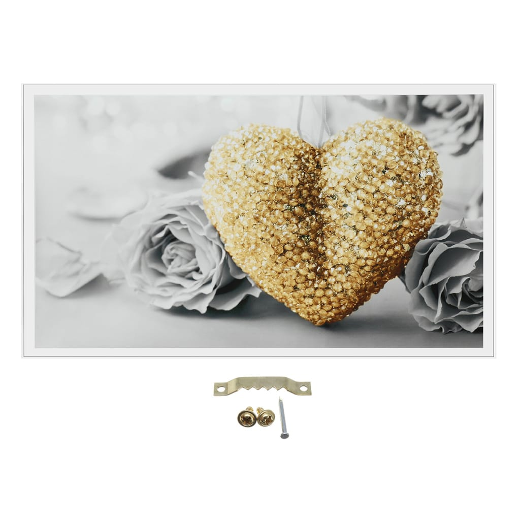 18x32 Heart Rose Canvas Prints Paintings Pictures-unframed