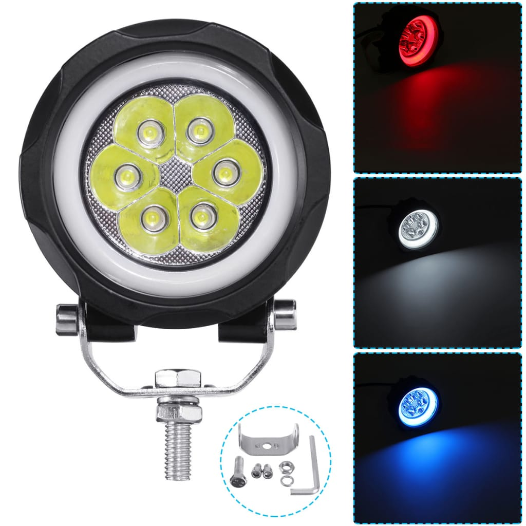 3 Inch 60w Led Work Light Car Circle Headlights Fog Lights
