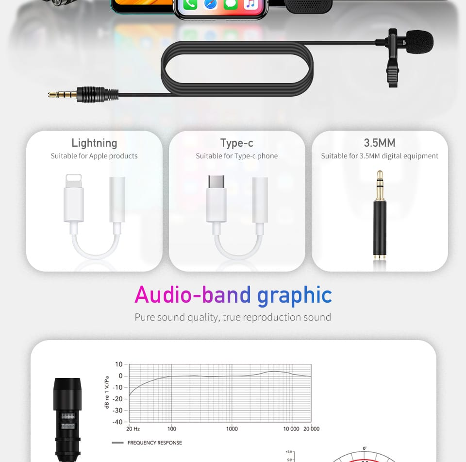 Bakeey E1 Wired Microphone Mini 3.5mm Type-c Microphone