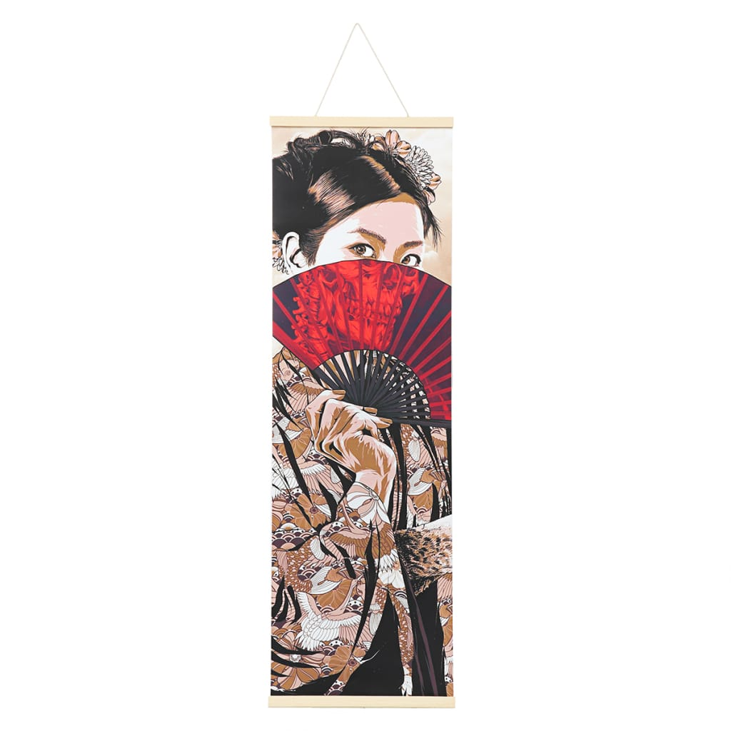 30x96cm Hd Canvas Paintings Wall Art Ukiyoe Hanging Picture