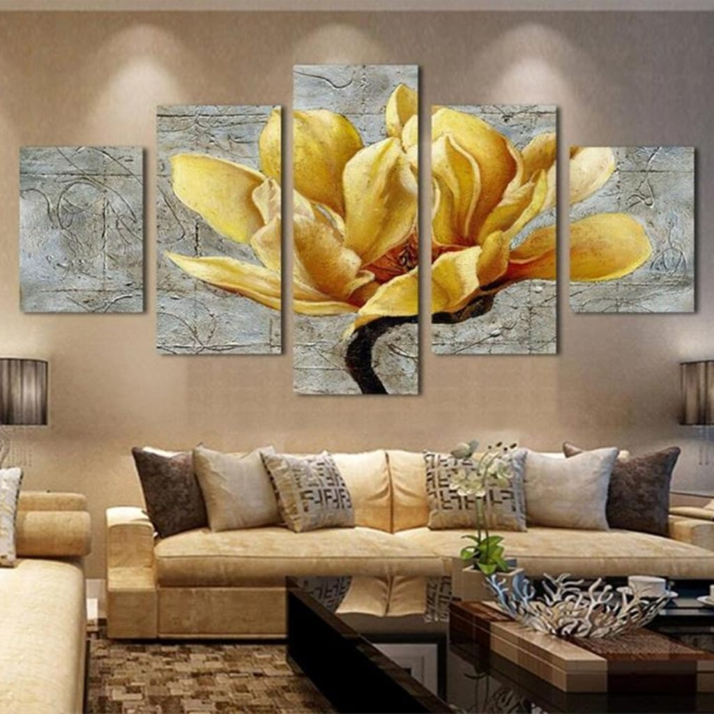 5pcs Unframed Modern Art Oil Paintings Print Canvas Picture