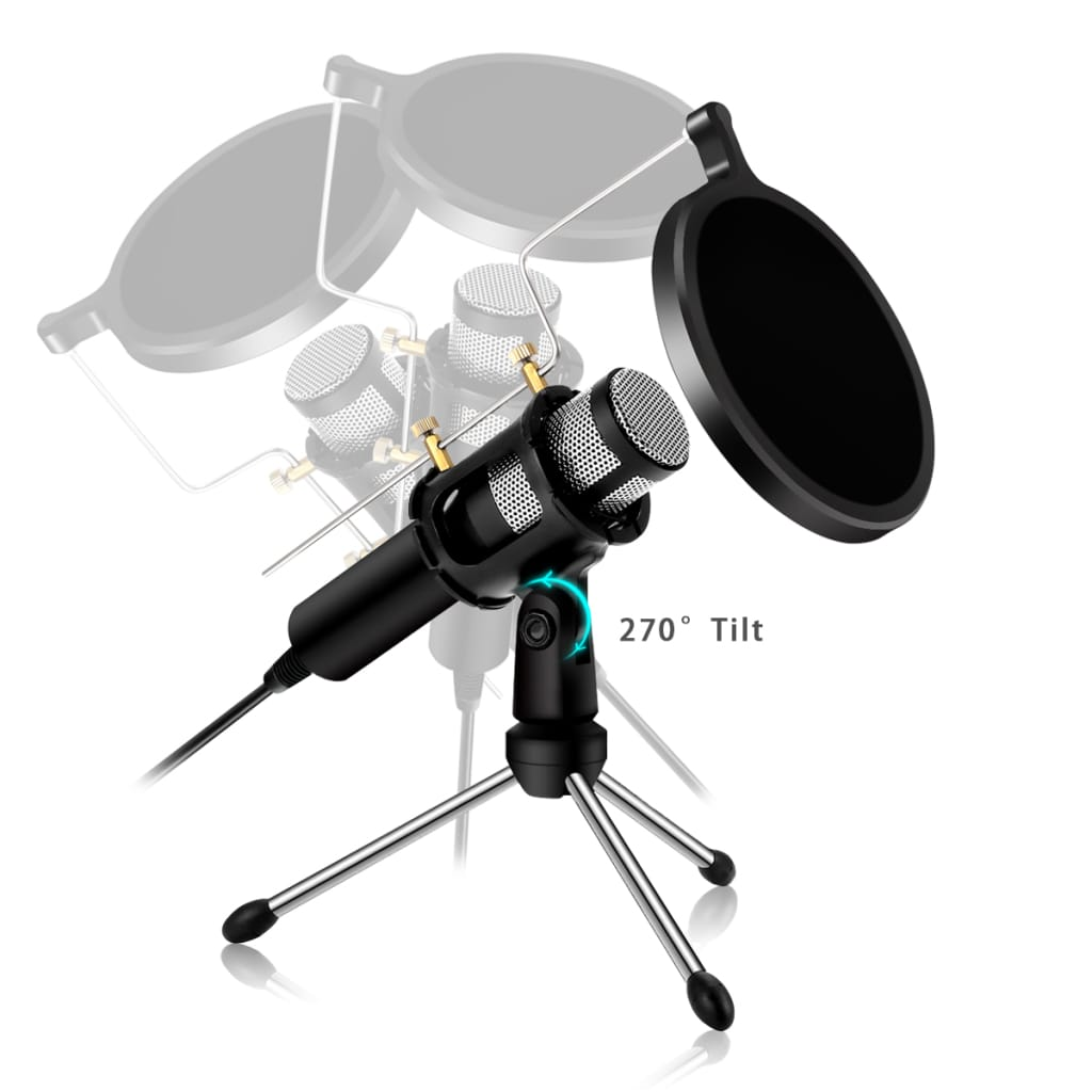 Usb Professional Home Studio Condenser Microphone for Live