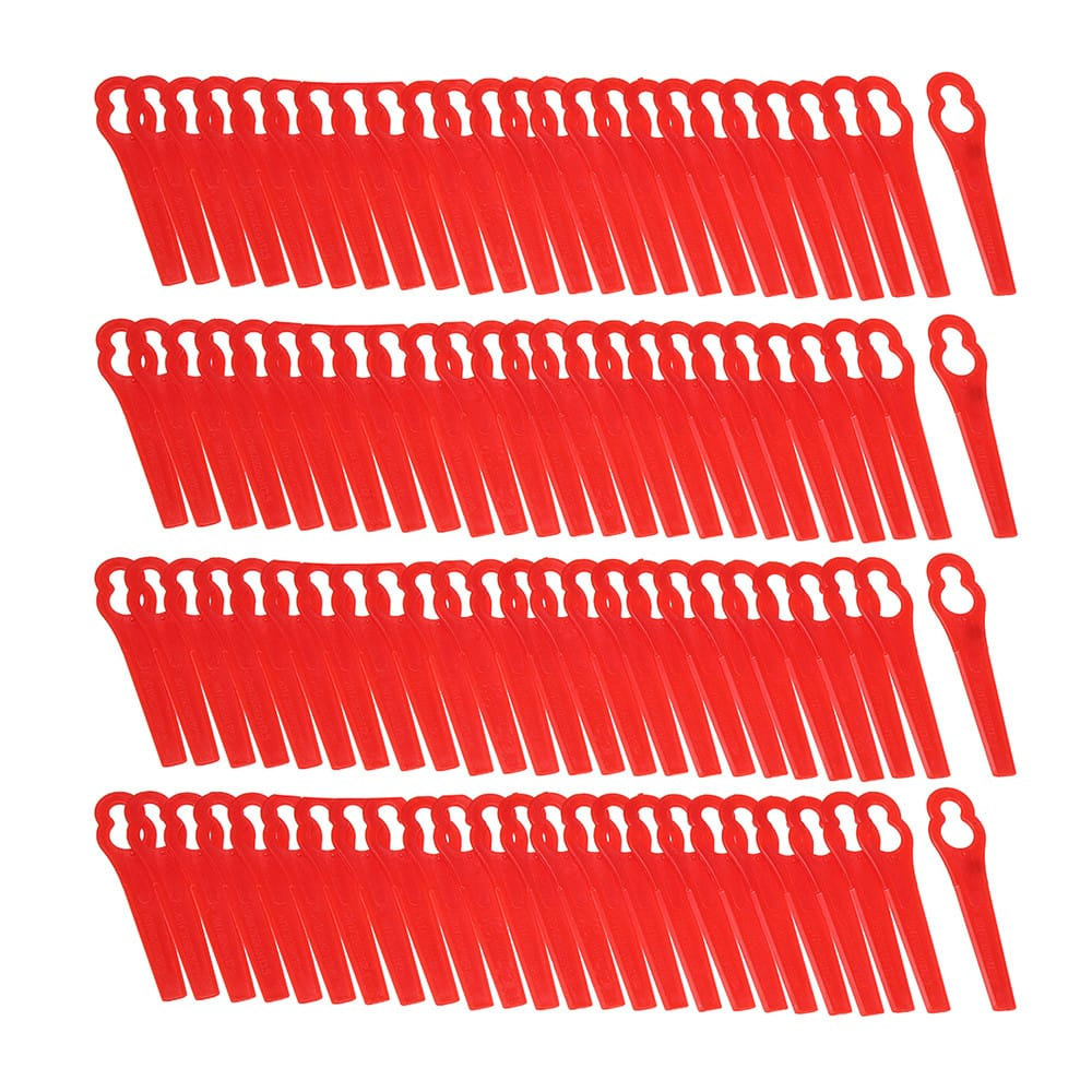 Red Plastic Blades for Grass Trimmer Strimmer Lawnmower -
