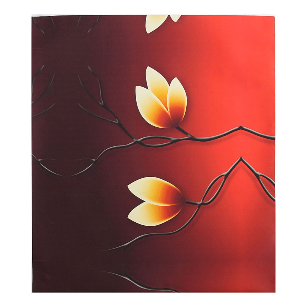 4pcs Modern Abstract Oil Paintings Flowers Huge Unframed